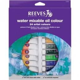 Reeves colori ad olio diluibili in acqua ass. 24 tubi da 10 ml