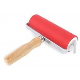 Abig Rullo inchiostratore gomma cm 20 manico in legno diam. 5 cm