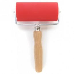 Abig Rullo pressore gomma cm 15 manico in legno diam. 5 cm