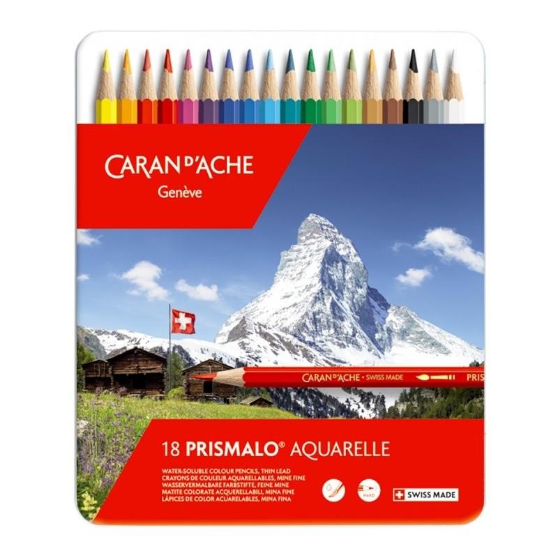 Caran D'ache PRISMALO 18 Pastelli Acquerellabili scatola metallo