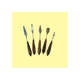 Spatole set 5 pezzi - manico in legno