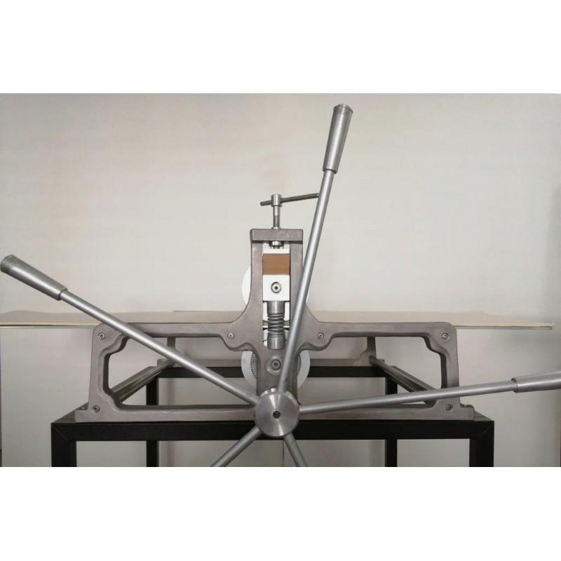 Torchio calcografico professionale con piano di stampa 73x140 cm, demoltiplica e banchetto d'appoggio - Calcografia.it