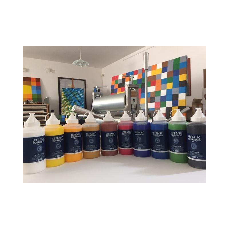 L&B assortimento n. 10 colori acrilici 750 ml
