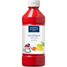 L&B Colori acrilici flacone da 500 ml Rosso primario