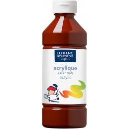 L&B Colori acrilici flacone da 500 ml Marrone
