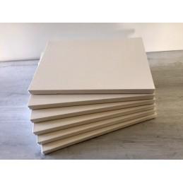 N. 6 Telai telati, svoltati sul retro, 100x100 cm, trama media, spessore 18 mm