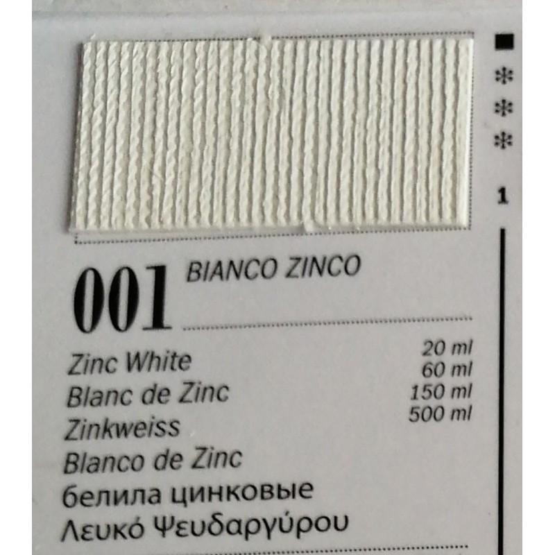 Ferrario Colori olio Van Dyck 150 ml - 01 Bianco zinco