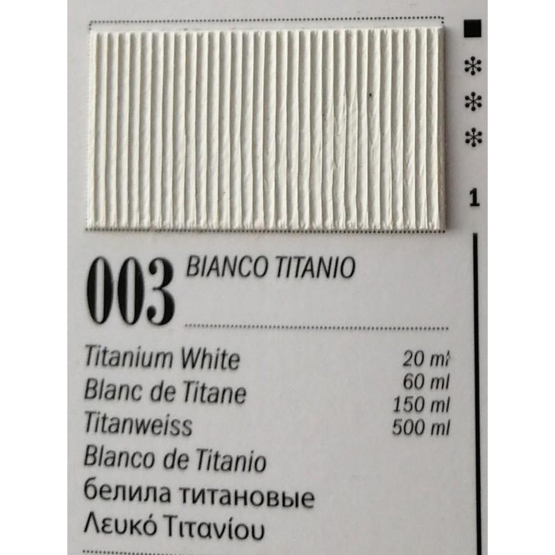 Ferrario Colori olio Van Dyck 150 ml - 03 Bianco Titanio