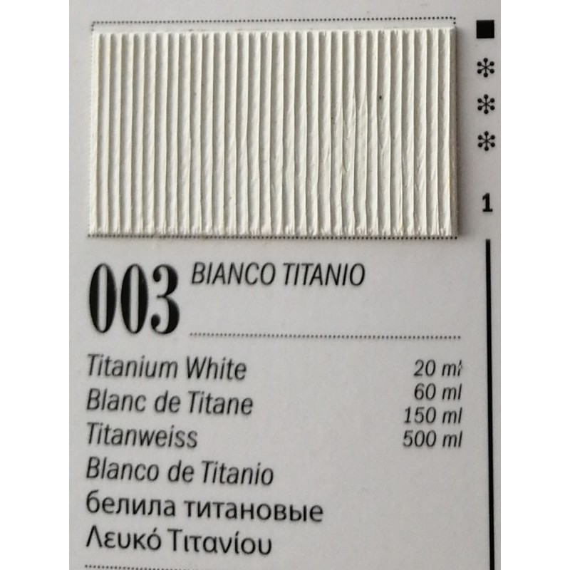3 - Ferrario Olio Van Dyck Bianco di Titanio