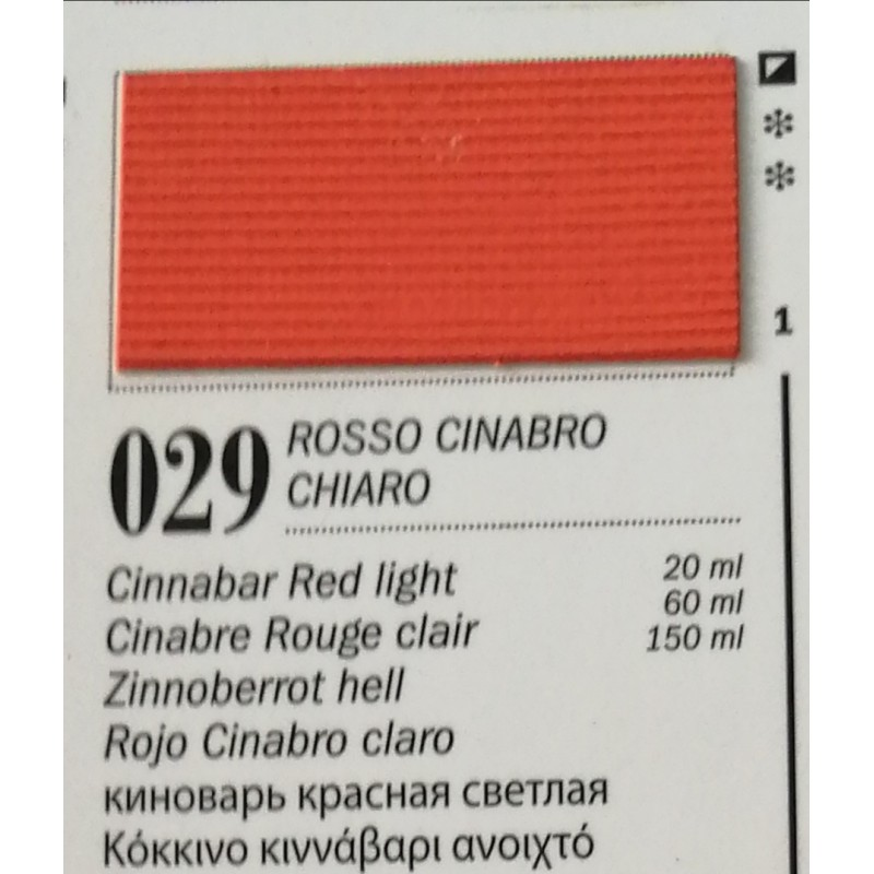 29 - Ferrario Olio Van Dyck Cinabro Rosso Chiaro