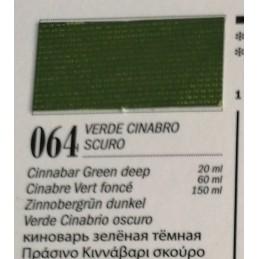 64 - Ferrario Olio Van Dyck Verde Cinabro Scuro