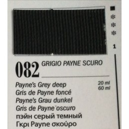 82 - Ferrario Olio Van Dyck Grigio Payne Scuro