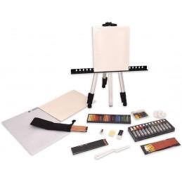 Daler-Rowney Art Easel Studio - Set da 163 pezzi - cavalletto da campagna in alluminio con piedi telescopici