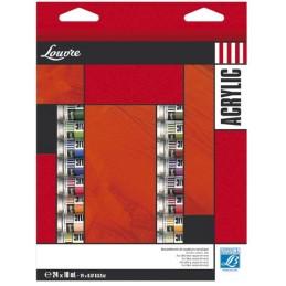 L&B Acrilico Louvre assortimento 24 tubi da 10 ml