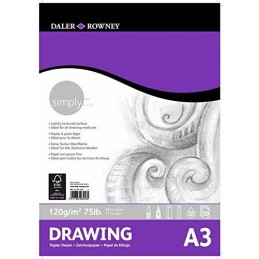 Album incollato carta Daler-Rowney Simply A3 Drawing 120 g/mq 50 ff.