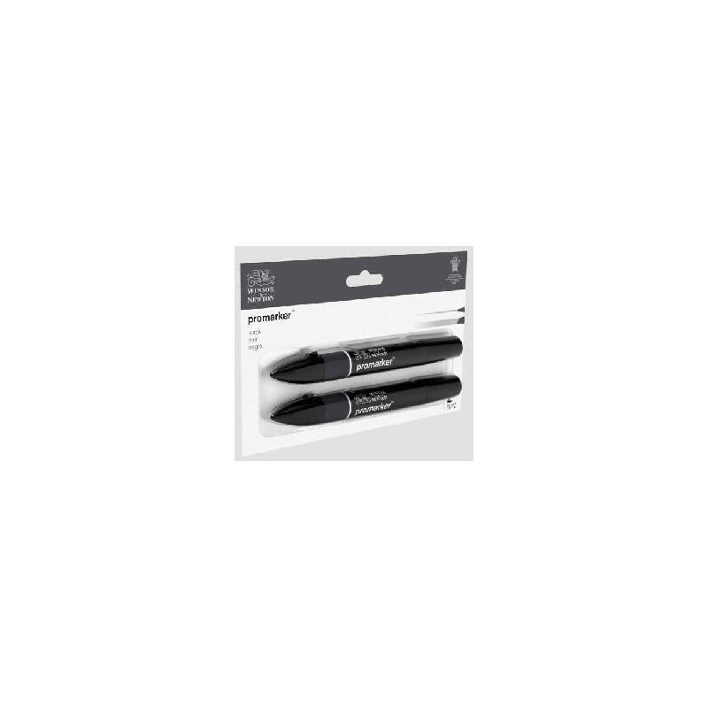 W&N Promarker Nero - conf. 2 pennarelli