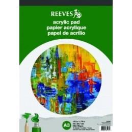 REEVES Blocco carta acrilici A4 (21x297 cm)