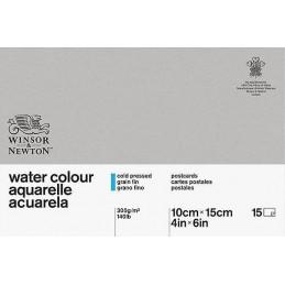 W&N Blocco Cartoline Carta acquarello watercolour grana fina 15 fogli 300g