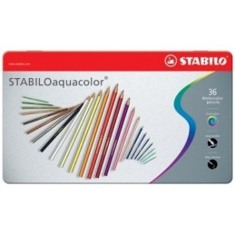 Stabilo Aquacolor Matite colorate acquarellabili scatola in metallo 36 colori