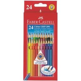 Faber-Castell Colour Grip Matite colorate acquerellabili astuccio cartone 24 matite