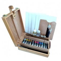 Maimeri kit colori olio CLASSICO 60 ml con Liffey Cassetta cavalletto