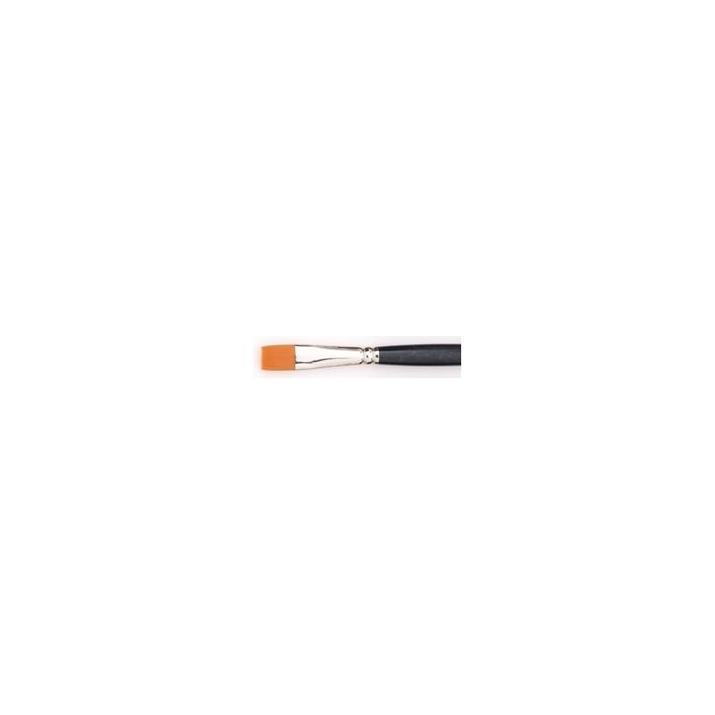 Pennello piatto sintetico ambra n. 4 (manico lungo)